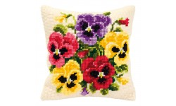 Pansy Posy Large Holed Tapestry Kit