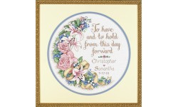 To Have and to Hold Wedding Sampler - Dimensions