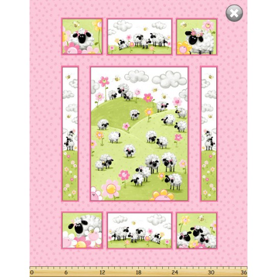 La Lamb - Susybee - Cot Panel