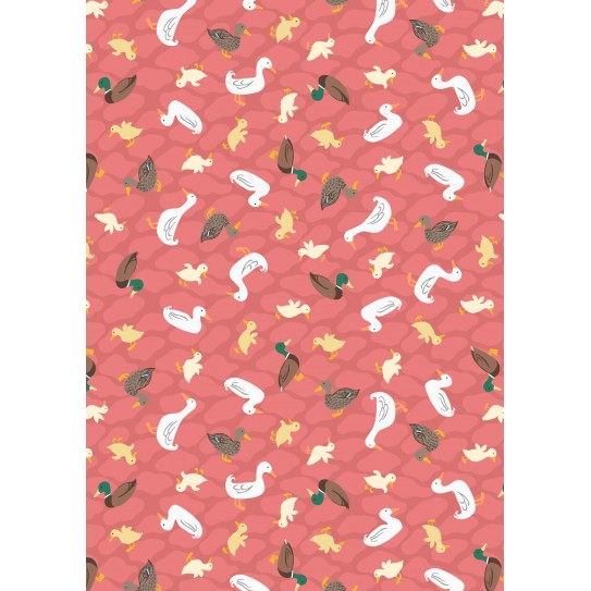 A451 3 Ducks On Pink Terracotta Soft Touch Needlecraft